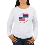 Armenia USA Flag Heritage Women's Long Sleeve T-S