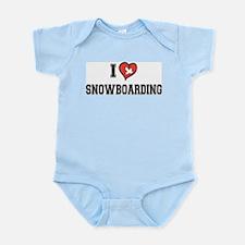 I Love Snowboarding Infant Bodysuit