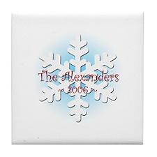 Snowflake - Alexander Tile Coaster