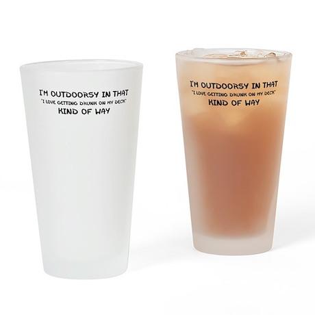 IM OUTDOORSY Drinking Glass