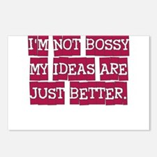 IM NOT BOSSY MY IDEAS ARE JUST BETTER Postcards (P
