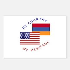 Armenia USA Flag Heritage Postcards (Package of 8)
