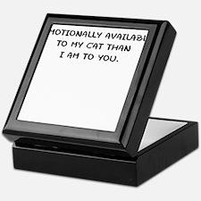 EMOTIONALLY AVAILABLE Keepsake Box