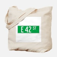 E 42 St., New York - USA Tote Bag