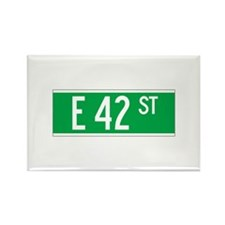 E 42 St., New York - USA Rectangle Magnet (10 pac