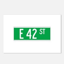 E 42 St., New York - USA Postcards (Package of 8)
