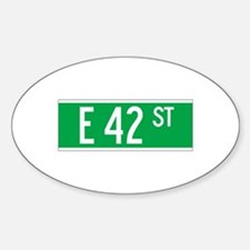 E 42 St., New York - USA Oval Decal