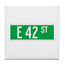 E 42 St., New York - USA Tile Coaster