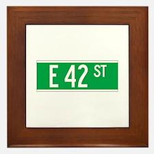 E 42 St., New York - USA Framed Tile