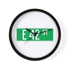 E 42 St., New York - USA Wall Clock