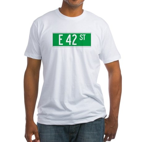 E 42 St., New York - USA Fitted T-Shirt