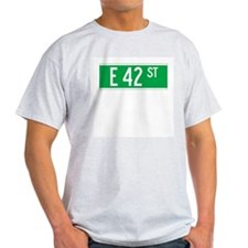 E 42 St., New York - USA Ash Grey T-Shirt