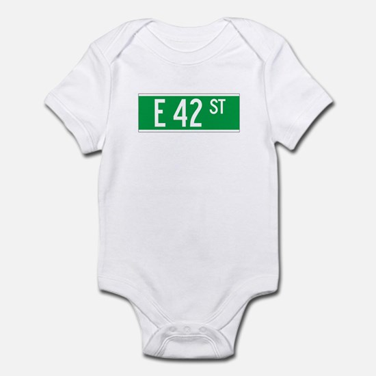 E 42 St., New York - USA Infant Bodysuit