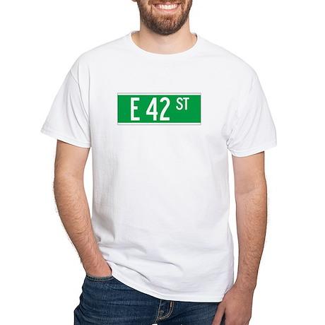 E 42 St., New York - USA White T-Shirt
