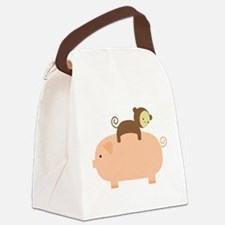 Baby Monkey Canvas Lunch Bag