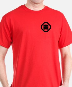 Wave-shaped Kanji characters for three T-Shirt