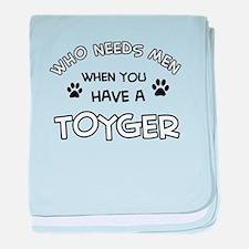 Funny Toyger designs baby blanket