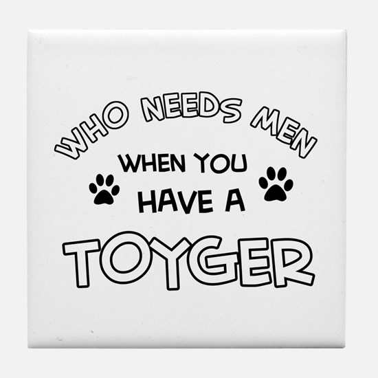 Funny Toyger designs Tile Coaster
