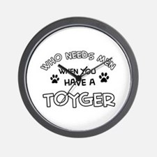 Funny Toyger designs Wall Clock