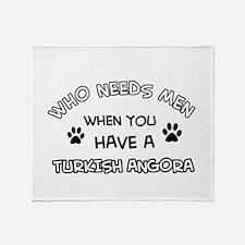 Funny Turkish Angora designs Throw Blanket