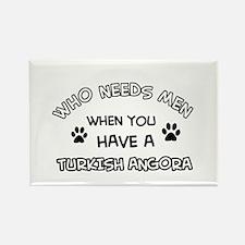 Funny Turkish Angora designs Rectangle Magnet