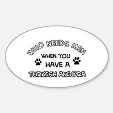Funny Turkish Angora designs Decal
