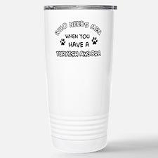 Funny Turkish Angora designs Travel Mug
