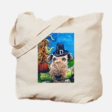 Airedale Terrier Thanksgiving Tote Bag