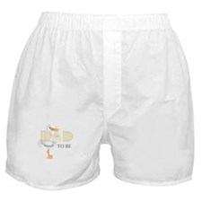 DAD TO BE STORK Boxer Shorts