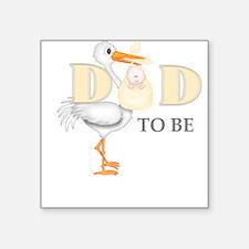 DAD TO BE STORK Sticker