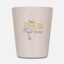 DAD TO BE STORK Shot Glass
