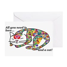 All You Need us Love Greeting Card