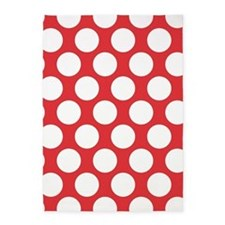 Poppy Red Polkadot 5'x7'Area Rug
