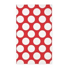 Poppy Red Polkadot 3'x5' Area Rug