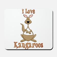 i love kangaroos Mousepad