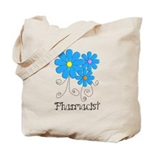 Pharmacist Retro Flower Tote Bag