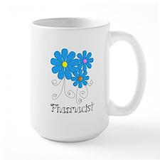 Pharmacist Retro Flower Mug