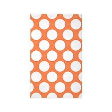Nectarine Orange Polkadot 3'x5' Area Rug