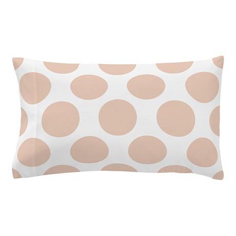 Linen Beige Polkadot Pillow Case