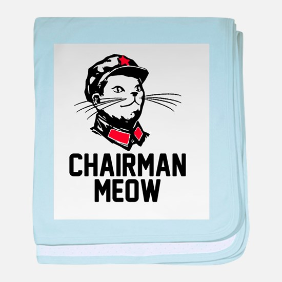 Chairman Meow baby blanket