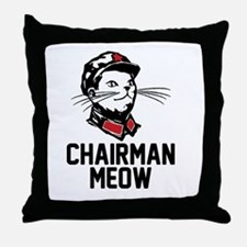Chairman Meow Throw Pillow