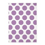 Lilac violet polka dot 5x7 Rugs