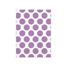 Lilac Violet Polkadot 5'x7'Area Rug