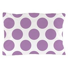 Lilac Violet Polkadot Pillow Case