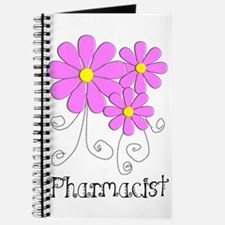Pharmacist Blue Pink Flower Journal