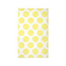 Bright Yellow Polkadot 3'x5' Area Rug