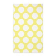 Bright Yellow Polkadot 3'x5' Area Rug