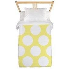 Bright Yellow Polkadot Twin Duvet