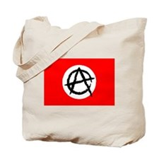Red & White Anarchy Flag Anonymous Style Tote Bag