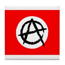 Red & White Anarchy Flag Anonymous Style Tile Coas